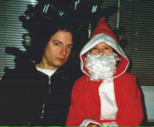 Hartmut & Santa Claus, December 2002